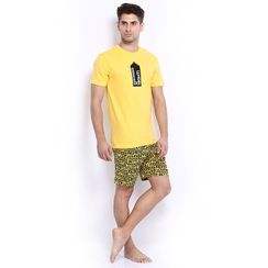 Stronger At Night-Men Shorts Set