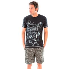 Dude Doddle & Stronger at Night-Men Shorts Set