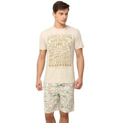 Vintage Love & Stamps-Men Shorts Set