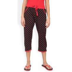 Red & Black Polka Capri