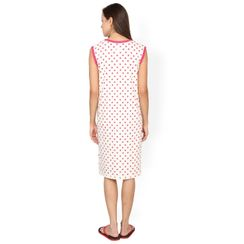 Nuteez Owls  V-neck Nightdress for women