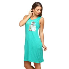 Comfortably Single-White Dress-Women Long tank (Sleeveless)