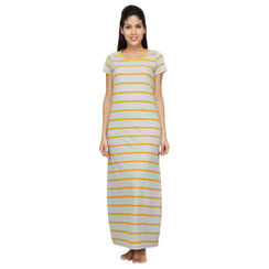 Stripes-Women Night gown