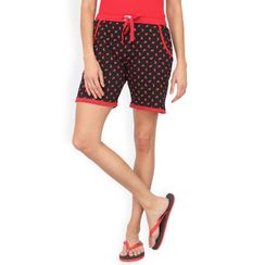 Red & Black Polka Shorts