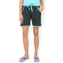 Blue & Black Polka Shorts
