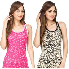 Wide Awake & Leopard-Women Sporty Tank Combo