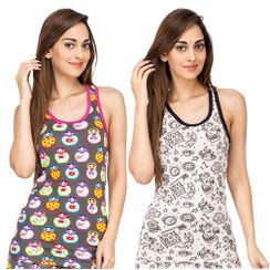 I Am Doll & Dreams -Women Sporty Tank Combo