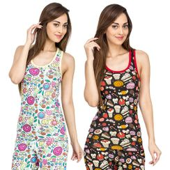 Flower Power & Sweet Tooth -Women Sporty Tank Combo