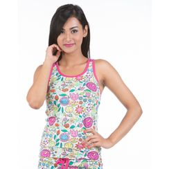 Flower Power-Women Sporty Tank