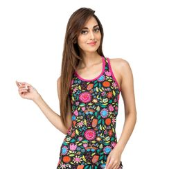 Flower Power -Women Sporty Tank
