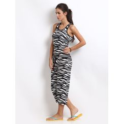 I Am Wild-Women Sporty Tank Capri Set