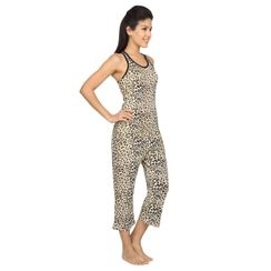Leopard-Women Sporty Tank Capri Set