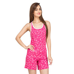 Wide Awake -Women Sporty Tank Shorts Set
