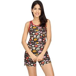 Sweet Tooth Sporty Tank & Shorts Set-Women Sporty Tank Shorts Set