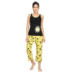 I AM FREAK ( side print) -Women Tank Top Capri Set