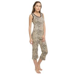 Leapord -Women Tank Top Capri Set