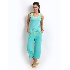 Fashion -Women Tank Top Capri Set