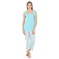 Nymph-Women Tank Top Capri Set