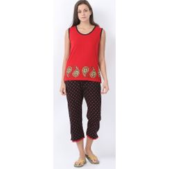 Nuteez Paisley  tank top & capri set for women
