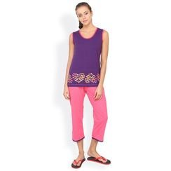 Nuteez Hearts Butterfly  tank top & capri set for women