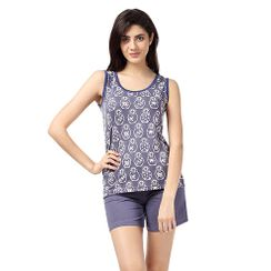 Wide Awake And Denim -Women Tank Top Shorts Set