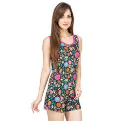 Flower Power -Women Tank Top Shorts Set