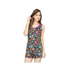 Flower Power -Women Tank Top Shorts Set