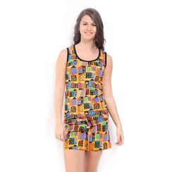 Retro Metro -Women Tank Top Shorts Set