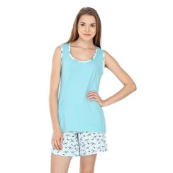 Nymph -Women Tank Top Shorts Set