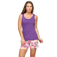 Papilion -Women Tank Top Shorts Set