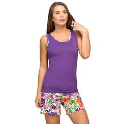 Floret -Women Tank Top Shorts Set