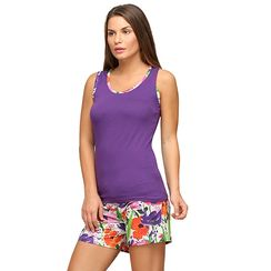 Floret -Women Tank Top Shorts Set