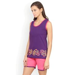 Nuteez Hearts Butterfly  tank top & shorts set for women
