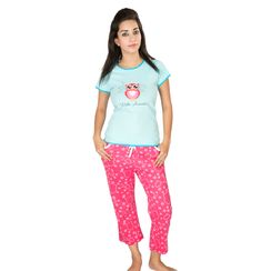 Wide Awake -Women Tee and Capri Set