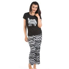 I Am Wild -Women Tee and Capri Set