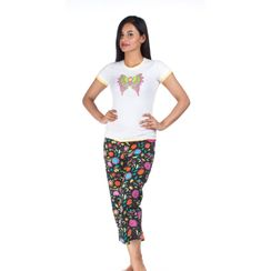 Flying Colors & Flower Power -Women Tee and Capri Set