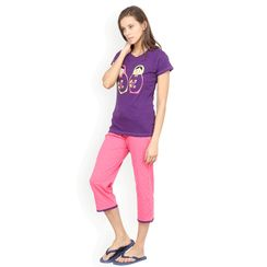 Nuteez Doll  tee & capri set for women