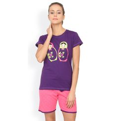 Nuteez Doll  tee & shorts set for women
