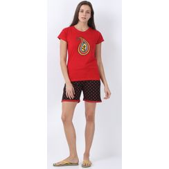 Nuteez Paisley  tee & shorts set for women