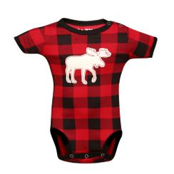 Moose Plaid -Lazyone Kids Onesies