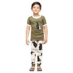 Bear In The Morning-Lazyone Kids PJ Set