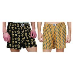 Dollar Rupee & Hexagon-Men Boxer Combo