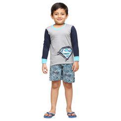 Big Blue-Kids Shorts Set