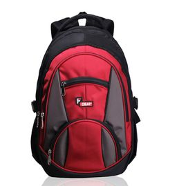 Midus Black Red Backpack
