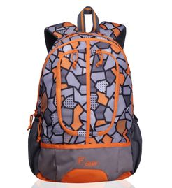 Dropsy 3D P Orange  casual backpack