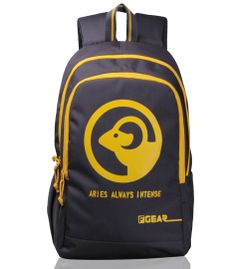 Castle  - Rugged Base Aries Grey Yellow Backpack
