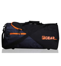 F Gear Explory 54 Liter Travel Duffle Bag (Black Orange)