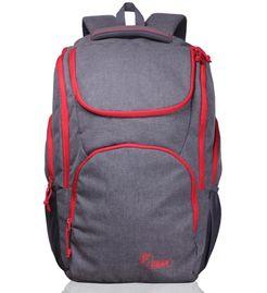 X Lander Grey Red  Backpack