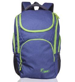 X Lander Navy Blue Green  Backpack