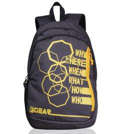 F Gear Diamond Octa 25 Liter Backpack (Grey Yellow)